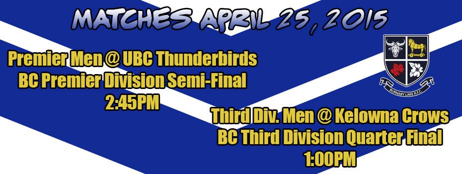 Matches April 25 2015